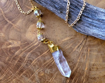 Natural Raw Quartz Point Necklace - Healing Beauty
