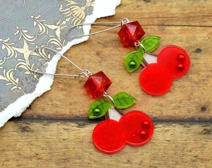 Cherry Bling - Charm Earrings