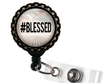 Blessed - #Blessed - Black Retractable Badge Reel ID Holder