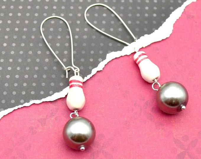Bowling Queen - Couture Peruvian Charm Earrings