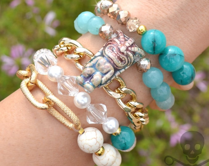 Tropical Tiki Stack - 5 Bracelet Set