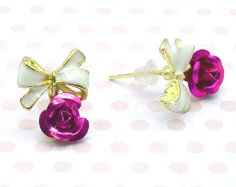BLOSSOMS AND BOWS - Cute Stud Earrings