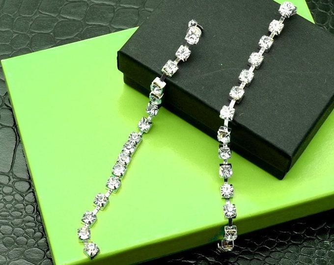 Dripping in Diamonds  - Rhinestone Dangle Earrings