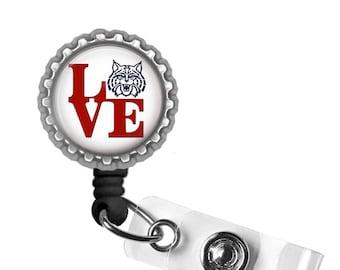 U of A Love - University of Arizona - Retractable Badge Reel ID Holder