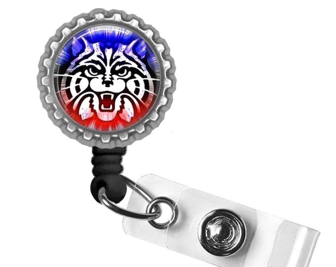 Red Wildcat - University of Arizona - Retractable Badge Reel ID Holder