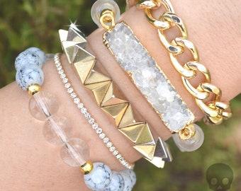 Crystal Vixen Stack - 5 Bracelet Set