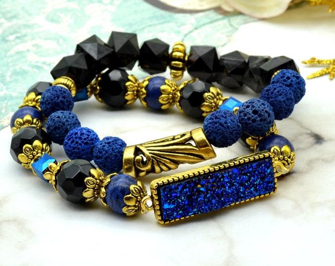 Dark Royalty Bracelet Stack - 2 pack
