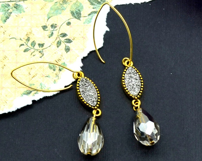 Marquis Couture Druzy Crystal Earrings