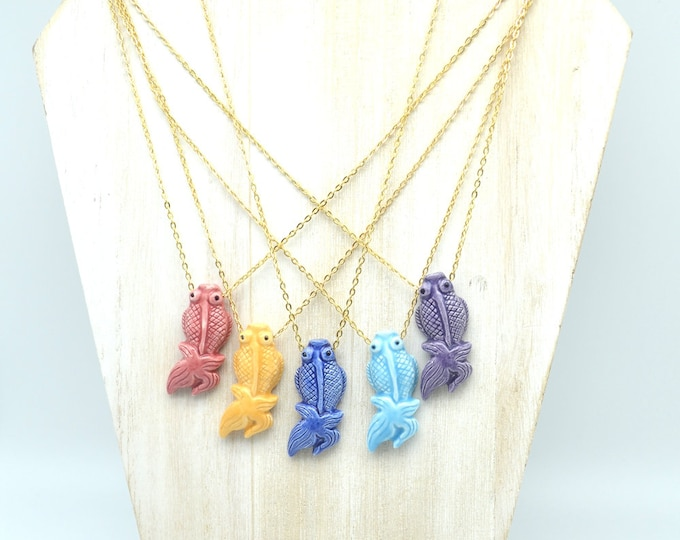 Colorful Koi - Hand Painted Peruvian Ceramic Necklaces