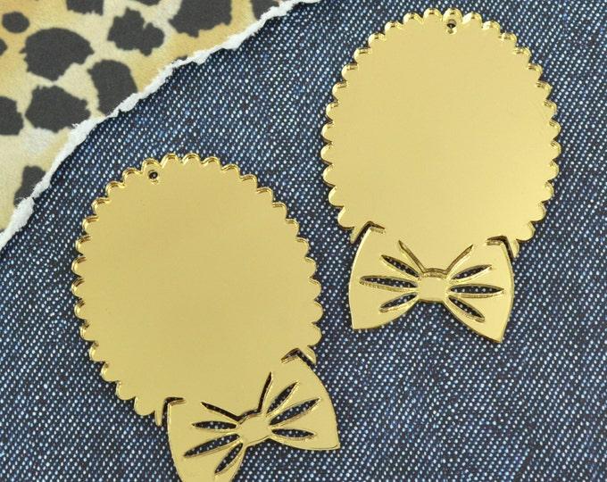 GOLD BOW CAMEOS - 30x40 mm Settings - Laser Cut Acrylic