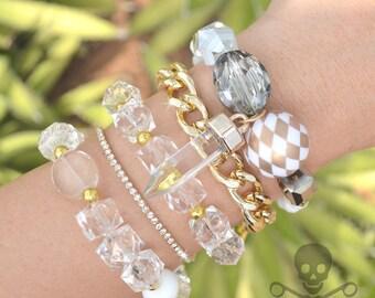 Hollywood Regency Stack - 5 Bracelet Set
