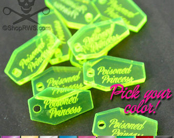 CUSTOM JEWELRY TAGS - Coffins  - Qty. 50, 100, or 250 - You Choose Your Color - With or Without Holes