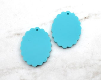 TURQUOISE CAMEOS - 18x25 mm Frame Settings - Laser Cut Acrylic