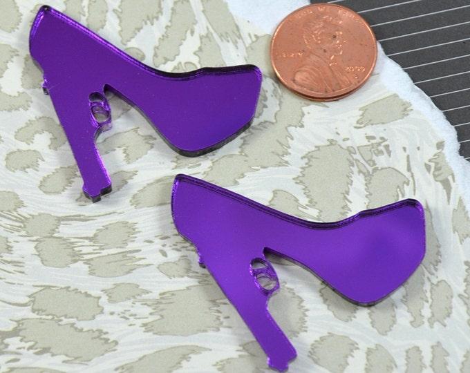 PURPLE TRIGGER HEELS - 2 Pieces - In Purple Mirror Laser Cut Acrylic