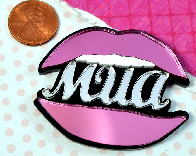 MUA PINK MIRROR Double Layer Cab-1 piece.