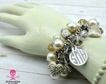 Custom Stretch Monogram Bracelet