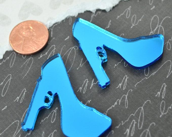 2 BLUE MIRROR Trigger Heel - Cabs in BLUE Mirror Laser Cut Acrylic