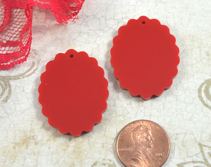 RED CAMEOS - 18x25 mm Frame Settings - Laser Cut Acrylic