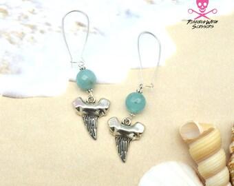 SharkTooth Gemstone Earrings
