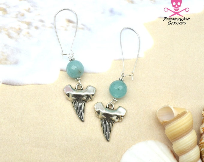 SharkTooth Gemstone Earrings