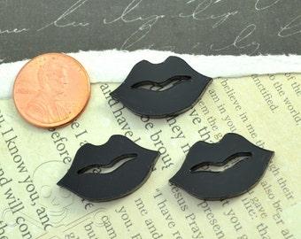 BLACK LIPS - 3 Pieces - In Laser Cut Acrylic