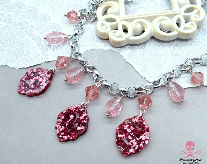 ROSE BLUSH Charm Necklace