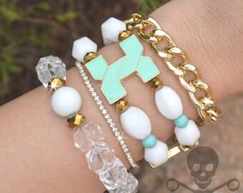 Art Deco Stack - 4 Bracelet Set