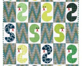 Sis for Snake baby quilt, handmade patchwork quilt, floor quilt, play quilt, novelty quilt, snake quilt, snakes