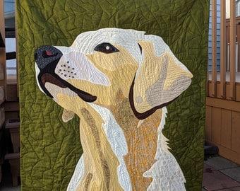 Custom Pet Art Quilt Wall Hanging, custom pet portrait, custom dog portrait, pet wallhanging, custom cat portrait