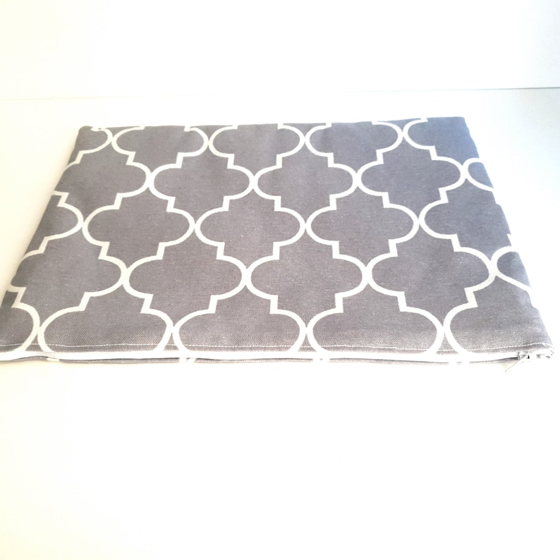 iPad 9.7 Sleeve GRAY MOROCCAN iPad Case Padded iPad Air 2 Bag iPad Pro Sleeve 10.5 Case for any iPad or Tablet 12.9 Cover