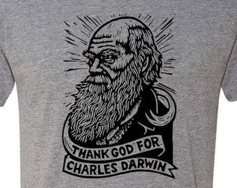 25bcfa6f3622a Charles Darwin T-shirt - Science T-shirt - Men s Gift - Funny T-shirts -  Science T-shirt - Free Shipping - Science Gift - Evolution - Unisex