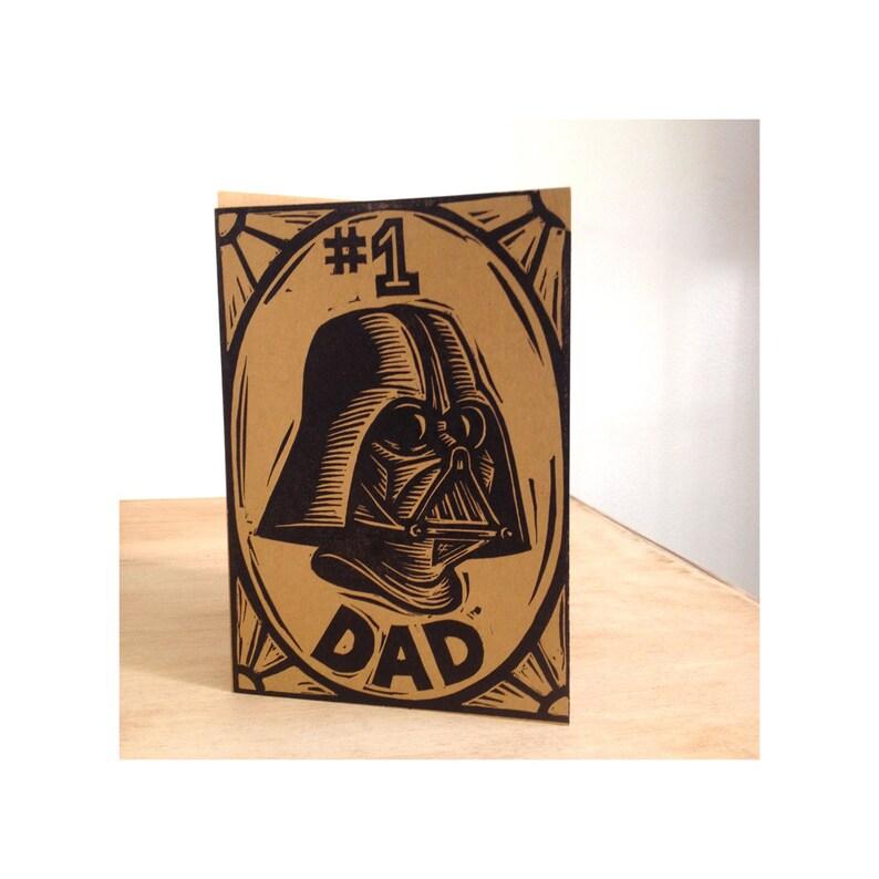 Dad Card Darth Vader Greeting Funny Birthday Cards
