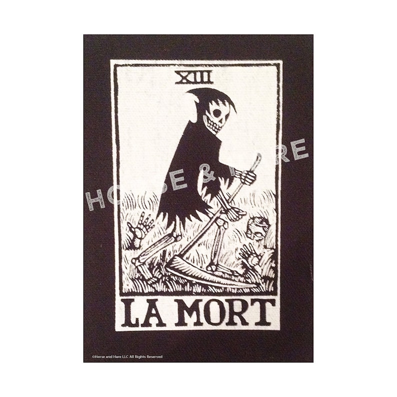 085af278579e5 Patches for Jackets La Mort Death Tarot Sew On Punk Patch