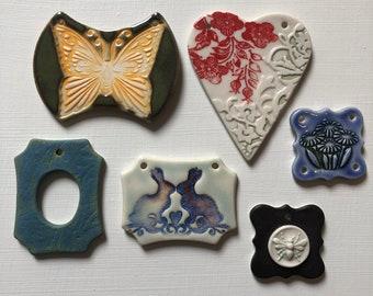 Assortment of Artisan Ceramic Pendants