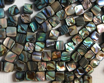 6mm Smooth Abalone Puff Squares