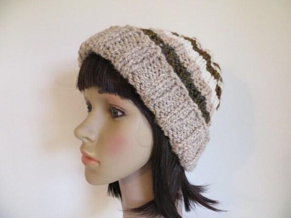 Hand Knit Hat Merino BFL Wool and Alpaca Hat  005f41462200