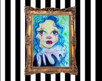 Sad Clown - Fine Art Giclée Print