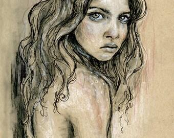 She - fine art print Illustration