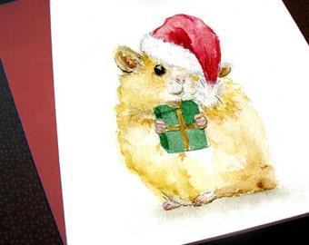Hamster Christmas Card