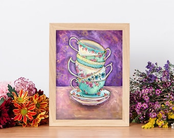 Tea Party - Giclée Fine Art Print