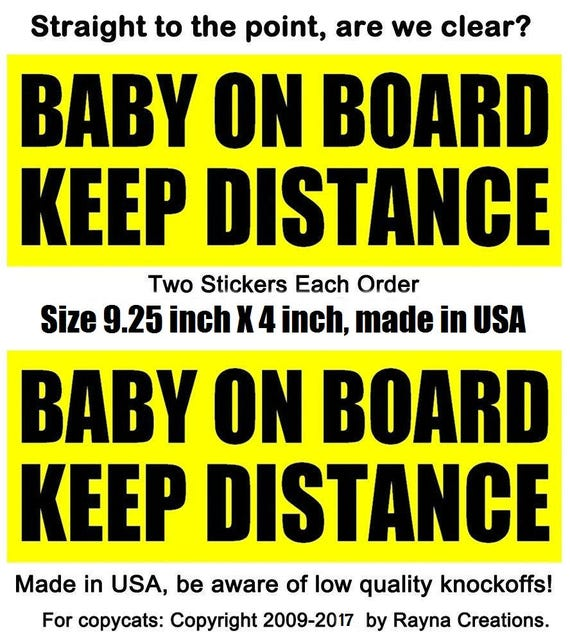 STAY BACK I HAVE KIDS ON BOARD WARNING SAFETY BUMPER STICKER Sign Car Windows