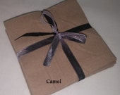 Solid CAMEL KHAKI Flannel Squares, FLANNEL Fabric, Rag Quilt Squares, pick colors quantity and size, We Cut You Sew
