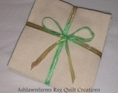 Solid NATURAL CREAM, FLANNEL Fabric Squares, Rag Quilt, Traditional Quilting, you pick size quantity, We Cut You Sew