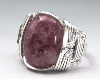 Precise Lepidolite Gemstone 925 Silver Jewelry Adjustable Cuff Easy To Lubricate Bracelets