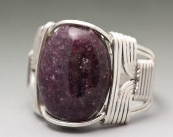 Precise Lepidolite Gemstone 925 Silver Jewelry Adjustable Cuff Easy To Lubricate Fashion Jewelry