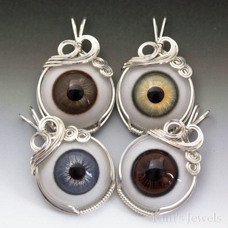 Stupendous Hazel Glass Eye Silver Wire Wrap Pendant By Kimsjewels On Etsy Wiring Cloud Funidienstapotheekhoekschewaardnl