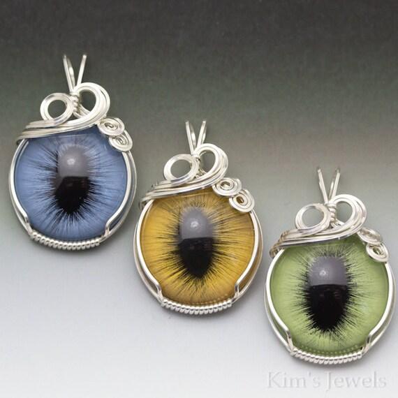Tremendous Hazel Glass Eye Silver Wire Wrap Pendant By Kimsjewels On Etsy Wiring Cloud Funidienstapotheekhoekschewaardnl