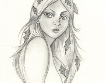 Ivy Forest Maiden original drawing