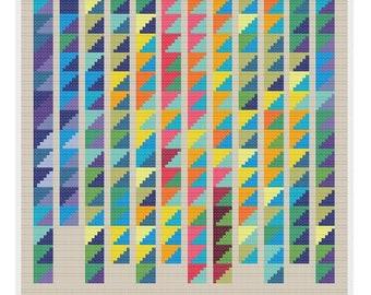 Temperature Quilt cross stitch pattern PDF - INSTANT DOWNLOAD