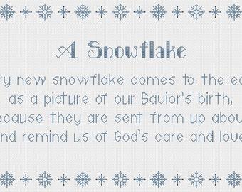 A Snowflake cross stitch pattern - PDF Instant Download